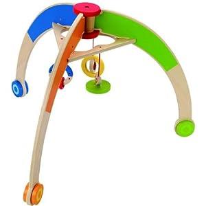 spielbogen gym babytrainer aus holz baby. Black Bedroom Furniture Sets. Home Design Ideas