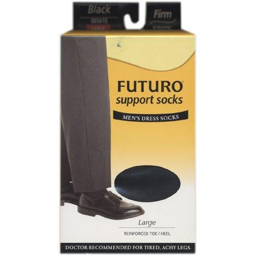 FUTURO Restoring Dress Socks for Men, Firm Large Black, Large 1 pr