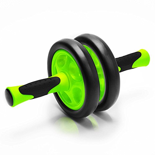 Bauchtrainer »TheDoubleWheel« zum effektives Bauchmuskeltraining. Einfacher zusammenbau, transportabel und leicht verstaubar Ideal zum Training der Bauchmuskulatur für schnelle Erfolge beim Sport. Steigerung der Trainingsintensität durch saubere Roll-Ups und Stärkung der Rückenmuskulatur ( Rückentraining ) hellgrün