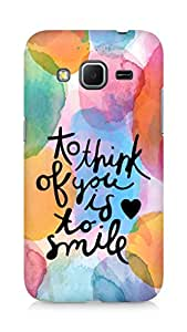 AMEZ to think of you is to smile Back Cover For Samsung Galaxy Core Prime