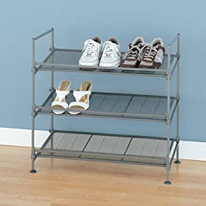 Click Here For right Size Devant 3 Tier Mesh Shoe Rack in Silver