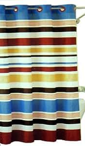 Hookless Fabric Shower Curtain - Century Stripe