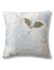 Floral Appliqué Cushion