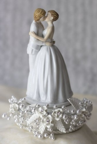 romantic lesbian gay wedding cake toppers