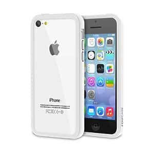 rooCASE Apple iPhone 5C Slim FIT Bumper Case - White / Gray