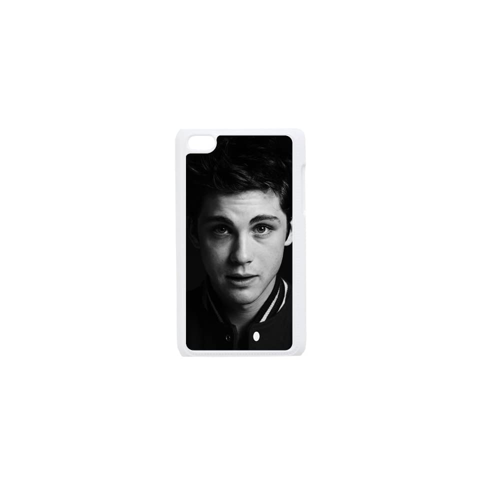 Logan Lerman iPod 4 Case, iPod Touch Case, iTouch Hard Protective Case   Black&White   Retailing Packing