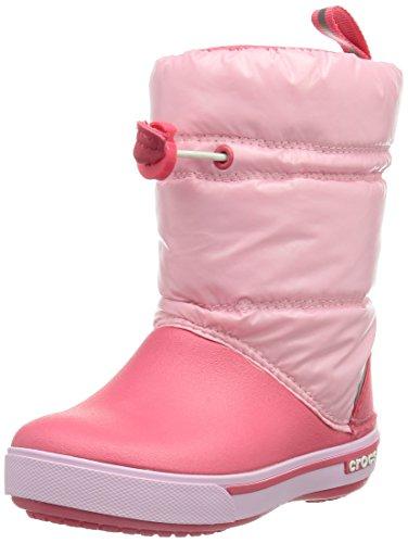 crocs Crocband Iri Gust, Stivali da neve Unisex bambini, Pink/Poppy, 27,5 (10 uk)
