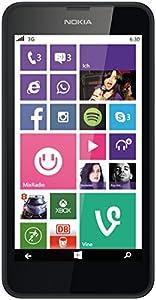 Nokia Lumia 630 Single-SIM Smartphone (4,5 Zoll (11,4 cm) Touch-Display, 8 GB Speicher, Windows 8.1) schwarz