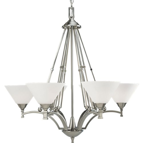 Progress Lighting P4164-09 6-Light Metro Chandelier, Brushed Nickel
