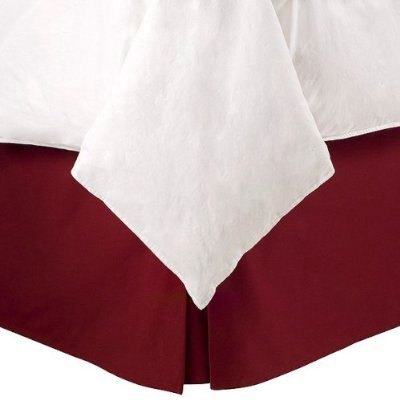 450Tc Egyptian Cotton Solid Burgundy California King Size Pleated Tailored Bed Skirt With 15 Inches Drop And Split Corners front-1016000