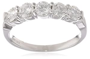 Women's 14k White Gold Diamond Anniversary Ring (1.00 cttw H-I Color, SI2-I1 Clarity), Size 5