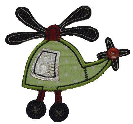 Helikopter Hubschrauber Aufbügler Aufnäher Bügelbild Patches nähen Stoff Kleider Buben Jungen pink rosa Mädchen Baumwolle weiss orange Polyester cm rot schwarz Kinder klein gross Stern Auto Jacke Jeans blau braunzum Set TrickyBoo