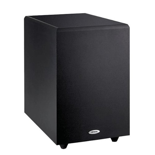 """Crystal Acoustics THX Select Certified 10"""" Down-firing Subwoofer, Black"""
