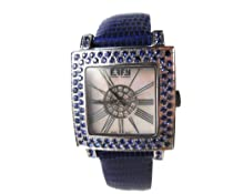 Effy Time Square Diamond/Sapphire 3.37 Tcw. Mother-of-Pearl Dial Ladies Watch #Z00Z088DS0