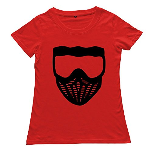Red 100% Cotton Paintball T-shirts For Women Size L (Paintball Merchandise compare prices)
