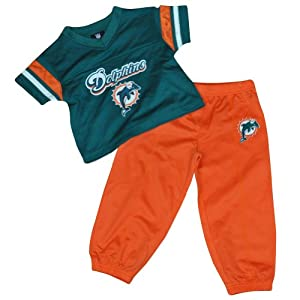 NFL Miami Dolphins Fins Reebok Jersey Pant 2 Piece Set Toddler DK2526 Orange by Officially Licensed NFL Product