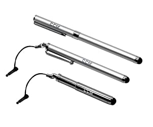 CCM® 2 in 1 Stylus + Pen ForLG UN510 Banter Touch/MN510 Rumor touch ( 3-Set Silver )