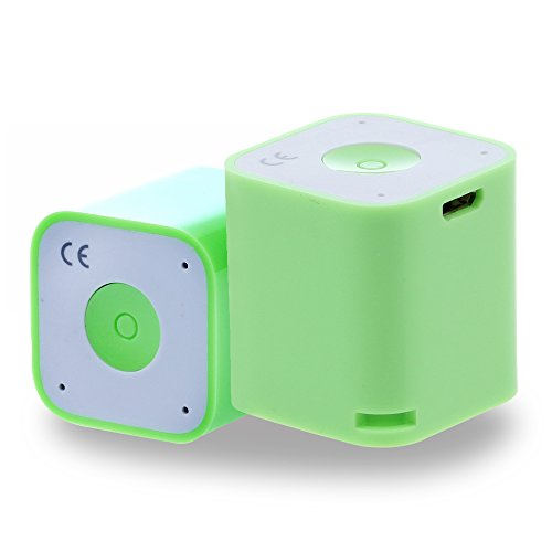 WONFAST® The World's Smallest Magical and Portable Multifunction Wireless Bluetooth Speaker with Bluetooth Remote Shutter,Anti-theft device of phone,Impressive Sound Quality You Never Imagine,Great for Listening Music,Taking self-portraits, Bluetooth Chat-(Green)