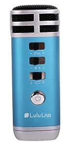 (Lulu LAB) i-karaマイク いつでもどこでも即カラオケ スマホやパソコンに接続するだけ! 一人でも、家・車でカラオケ大会も! 簡単にカラオケが楽しめる! ブルー マイク カラオケ 車内 iPhone iPad アイフォン アイパッド(lu-ib-026)