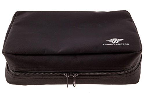 TrueXplorers Travel Size Hanging Cosmetic and Toiletry Bag, Extra Large Black