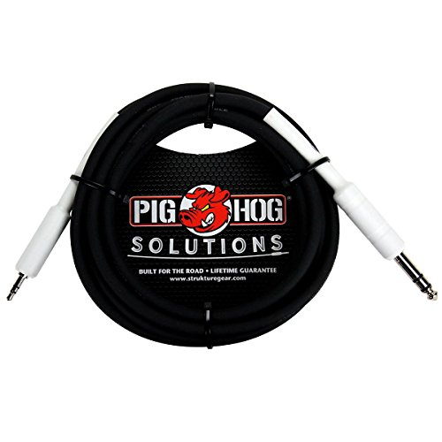 Pig Hog Solutions 1 4 TRS To 1 8 Mini Adapter Cable 10 Ft. 3 Ft.