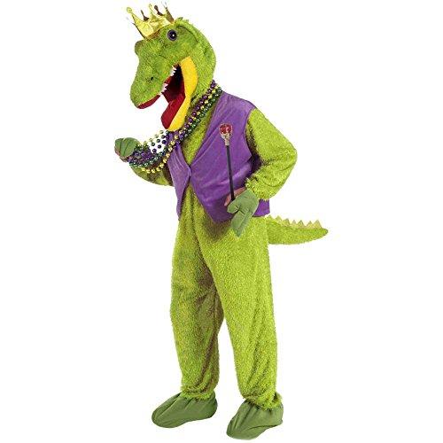 [Forum Novelties Mardi Gras Alligator King Adult Costume Standard] (Mens Mardi Gras Costumes Ideas)