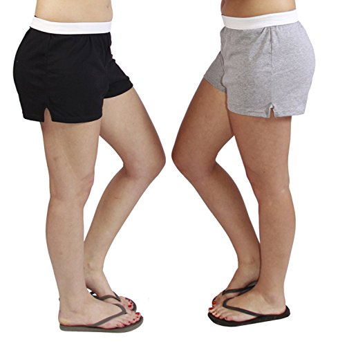 Jerzees-Juniors-Pack-of-2-womens-gymrunningyogacheer-shorts