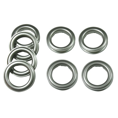 "Best Price Fast-Set Metal, #12 Grommet, 1 9/16"", 8 Sets, MATTE NICKEL"