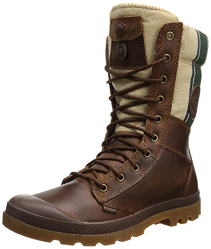Palladium Men's Tactical Plus Combat Boot, Brindle Brown, 14