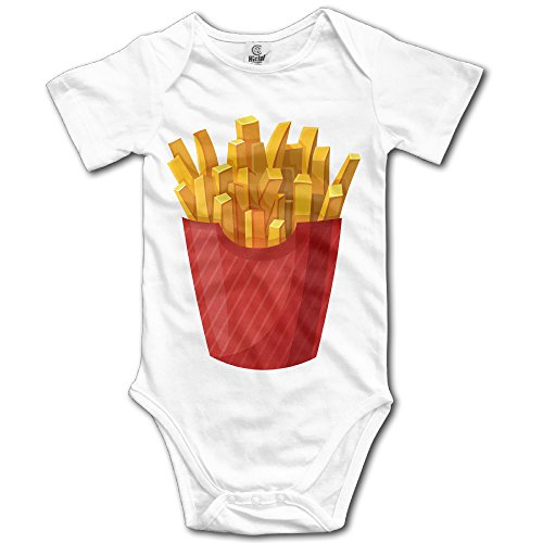 Kamici Baby French Fries Short Sleeve Romper Suit Climb Clothes White 24 Months (Toddler French Fries Costume compare prices)