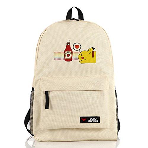 JOYCOS ポケモン ピカチュウ リュック バッグ かばん リュックサック バックパック 実用性高い 通学 旅行 男女兼用