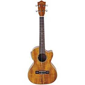 Lanikai CK-TEQ Tenor Curly Koa Acoustic Electric Ukulele