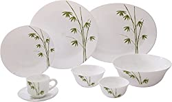 La Opala 27 pc Dinner set Green Foliage