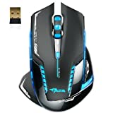 Gaming Mouse:E-3lue 6D Mazer II ,Hosamtel 2500 DPI Blue LED 2.4GHz Wireless Gaming Mouse with Wireless Chip,For PC Computer Laptop Computers