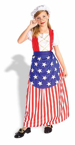 Child's Betsy Ross Costume Size Small (4-6)