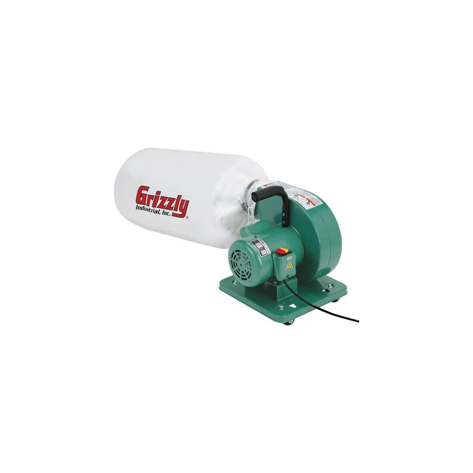Grizzly G1163 1 HP Light Duty Dust Collector