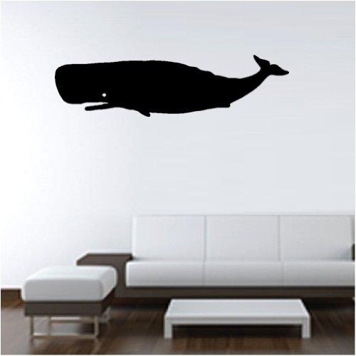 くじら ウォールステッカー 超壁用シール壁 シール :Size A160×43cm a:ブラック