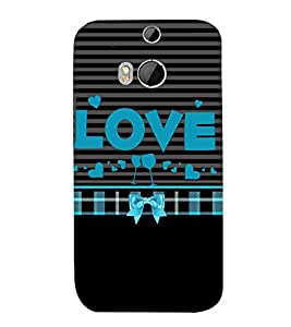 Love is Where You Party 3D Hard Polycarbonate Designer Back Case Cover for HTC One M8 :: HTC M8 :: HTC One M 8
