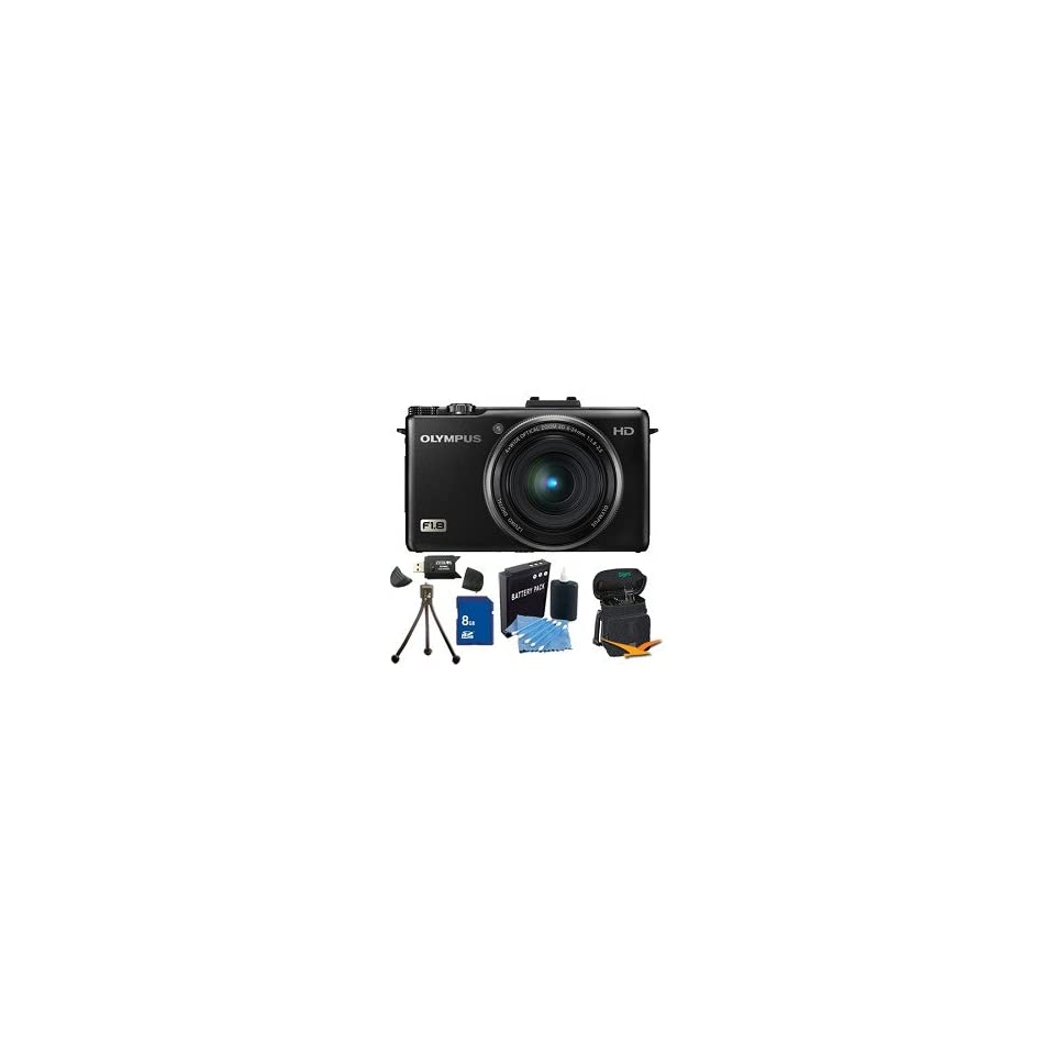 Olympus XZ 1 10MP f1.8 Lens Black Digital Camera 8GB Kit