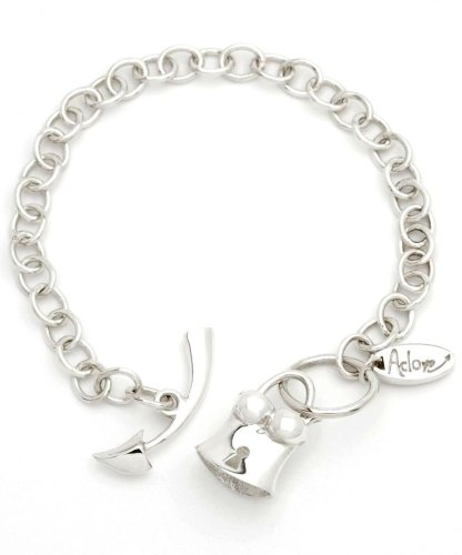 Rubie Rae Trendy Adore T-Bar Charm Bracelet with Funky Basque Charm