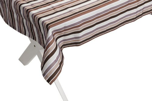 """Outdoor TISCHDECKE """"Antibes braun-beige"""" Gartentischdecke Gartentisch Tisch Decke abwaschbar 140cmx240cm günstig bestellen"""