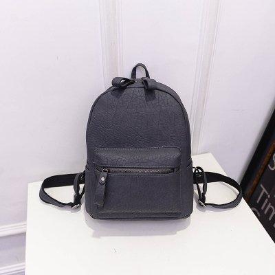 La versione coreana della marea di piccole spalle pacchetto Svago Mini borsa da viaggio Preppy Corea Ms. pacchetti PU , grigio elegante