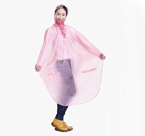 Bike Bicycle Cycling Cycle Waterproof Rain Coat Raincoat Cape Poncho 7 Colors Star Pink