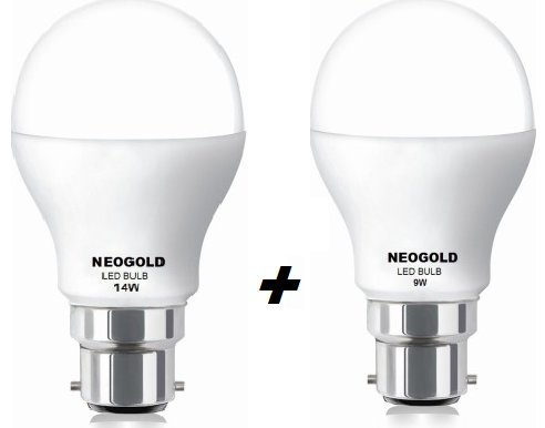 Elite-14W,9W-LED-Bulbs-Combo-(Cool-White)