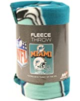 "Miami Dolphins Fleece Blanket (Reflecting Helmet, 50"" x 60"")"