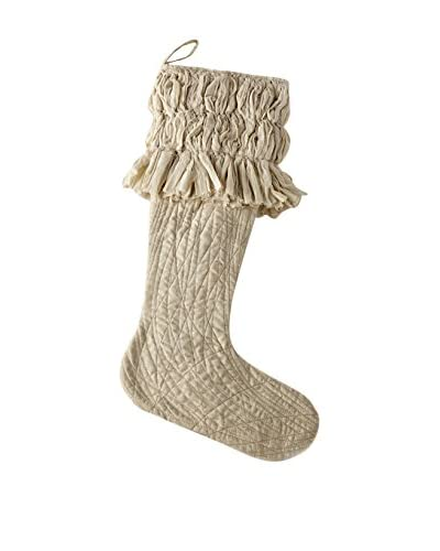 Sage & Co. Pleat Ruffle Linen Stocking