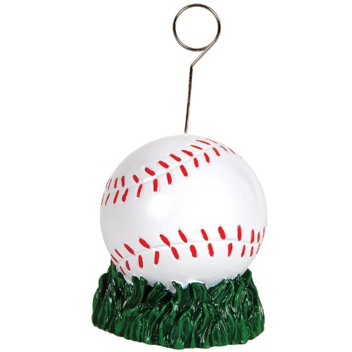 Beistle Baseball Photo/Balloon Holder