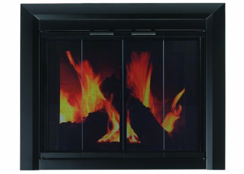 Pleasant Hearth CM-3010 Small Clairmont Fireplace Glass Door (Masonry Fireplace compare prices)