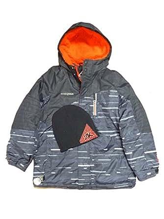 Amazon.com: Zero Xposur Boys Black & Red Puffer Jacket