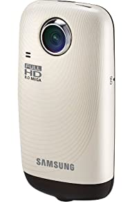 Samsung HMX-E10 1080P Pocket Camcorder with 270-Degree Swivel Lens (Ivory)
